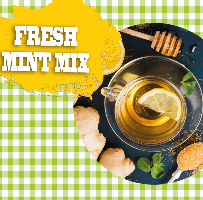 Champagnesorbet Fresh mint mix Florigrow